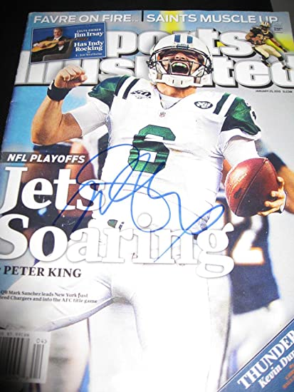 36e2b12080c Mark Sanchez Signed Autograph Sports Illustrated New York Jets In Person  Coa B - Autographed NFL