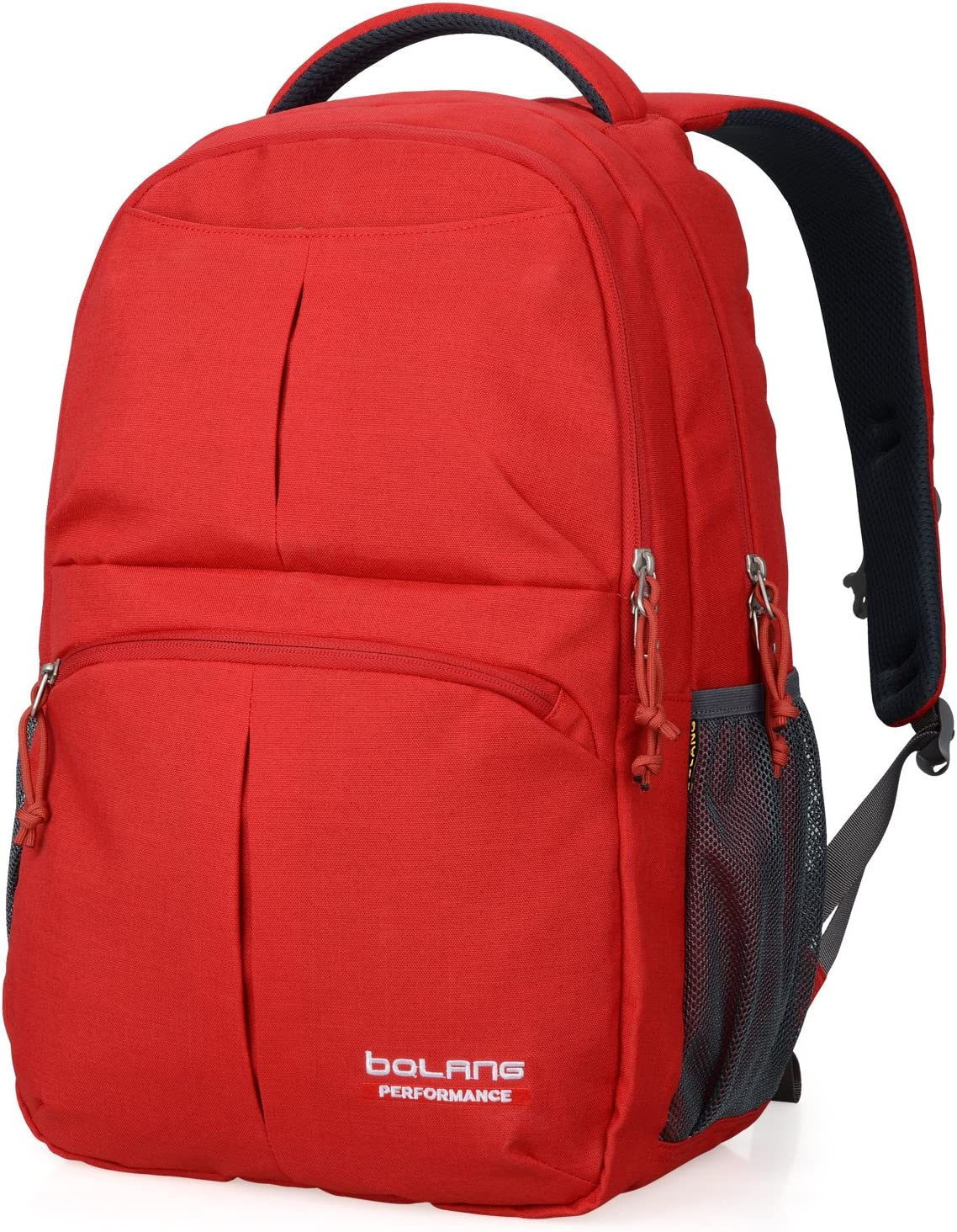 BOLANG College Backpack for Men Water Resistant Travel Backpack Women Laptop Backpacks Fits 16 inch Laptop Notebook 8459 (Bright Red)