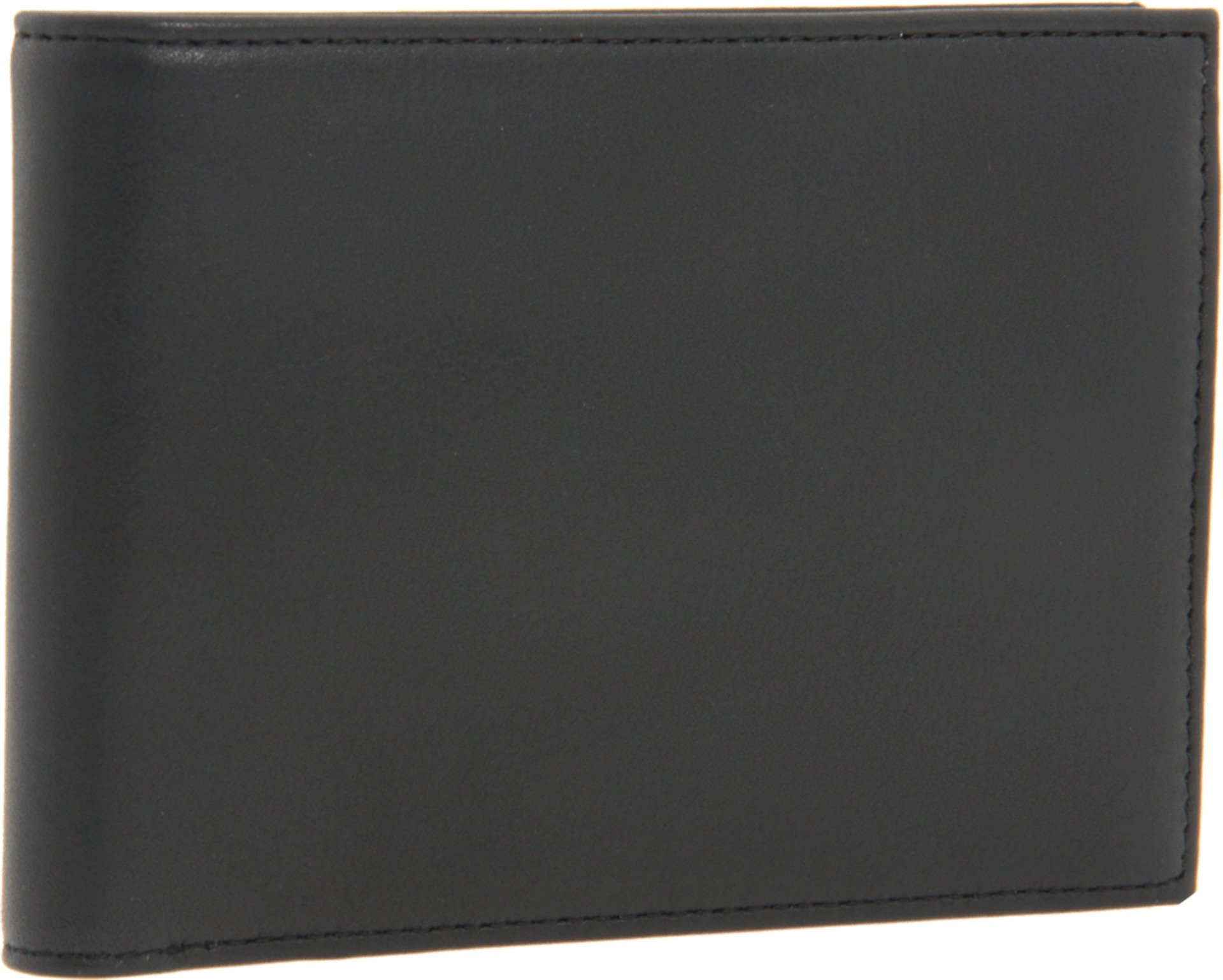 Bosca Nappa Vitello Collection - Credit Wallet w/ ID Passcase Wallet Black Leather