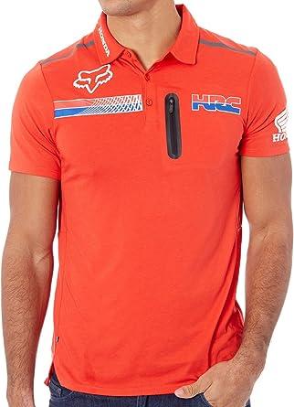 Pit HRC Tech SS Polo [Fox-Honda, FLAME RED] Premium (S): Amazon.es ...