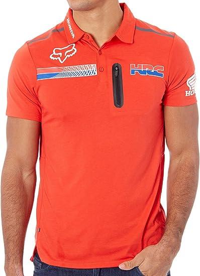 Pit HRC Tech SS Polo [Fox-Honda, FLAME RED] Premium (M): Amazon.es ...