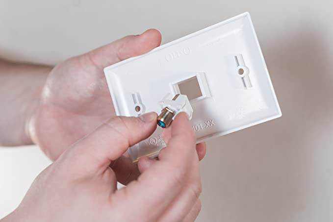 Legrand-On-Q F3481-WH-V5 Recessed Keystone Nickel 3GHz F- Coupler, White, 5 Pack - Electrical Outlet Boxes - Amazon.com