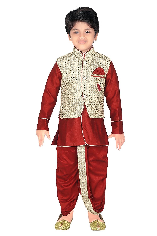 8dbc71a89ea Amazon.com  ahhaaaa Kids Indian Ethnic Waistcoat