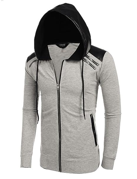 Amazon.com: Coofandy para hombre, con capucha y cierre ...
