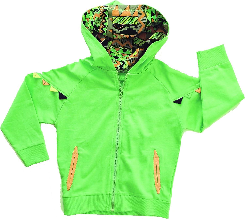 Idikidual Sweat Shirt à Capuche Garçon Vert Green Vert