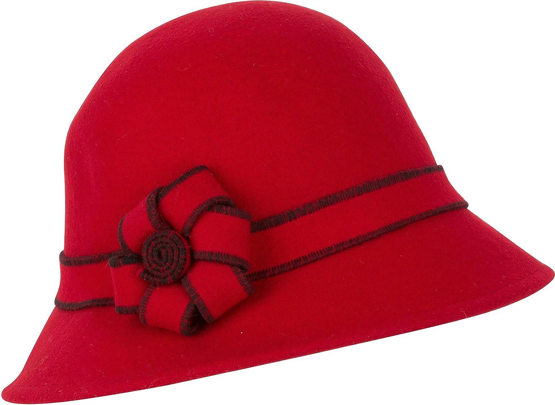 Sakkas Molly Vintage Style Wool Cloche Hat 5055460167799