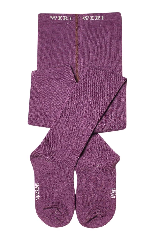 Weri Spezials Unisex Baby and Children Smooth Tights Purple