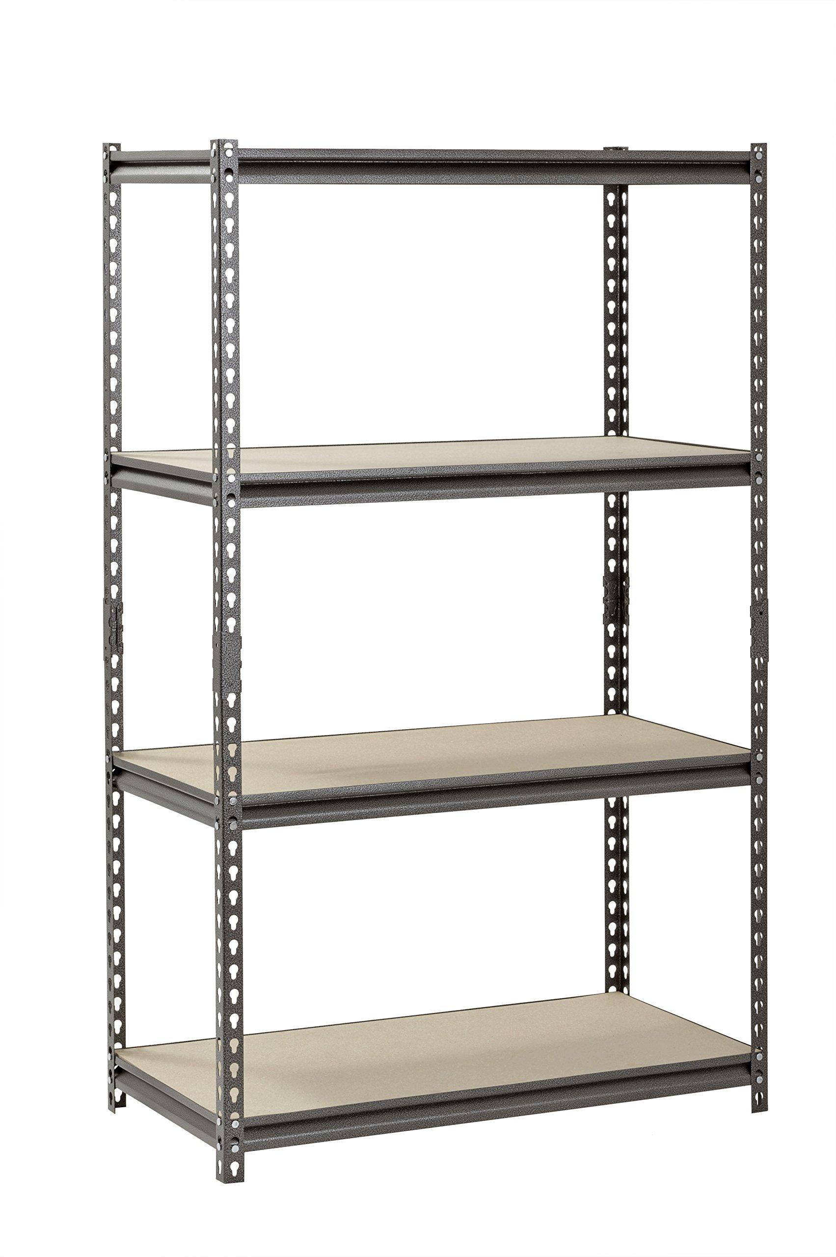 Muscle Rack UR361860PB4P-SV Silver Vein Steel Storage Rack, 4 Adjustable Shelves, 3200 lb. Capacity, 60'' Height x 36'' Width x 18'' Depth by Muscle Rack