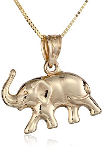 Amazon 14k yellow gold elephant pendant necklace 18 jewelry 14k yellow gold elephant pendant necklace 18quot aloadofball Gallery