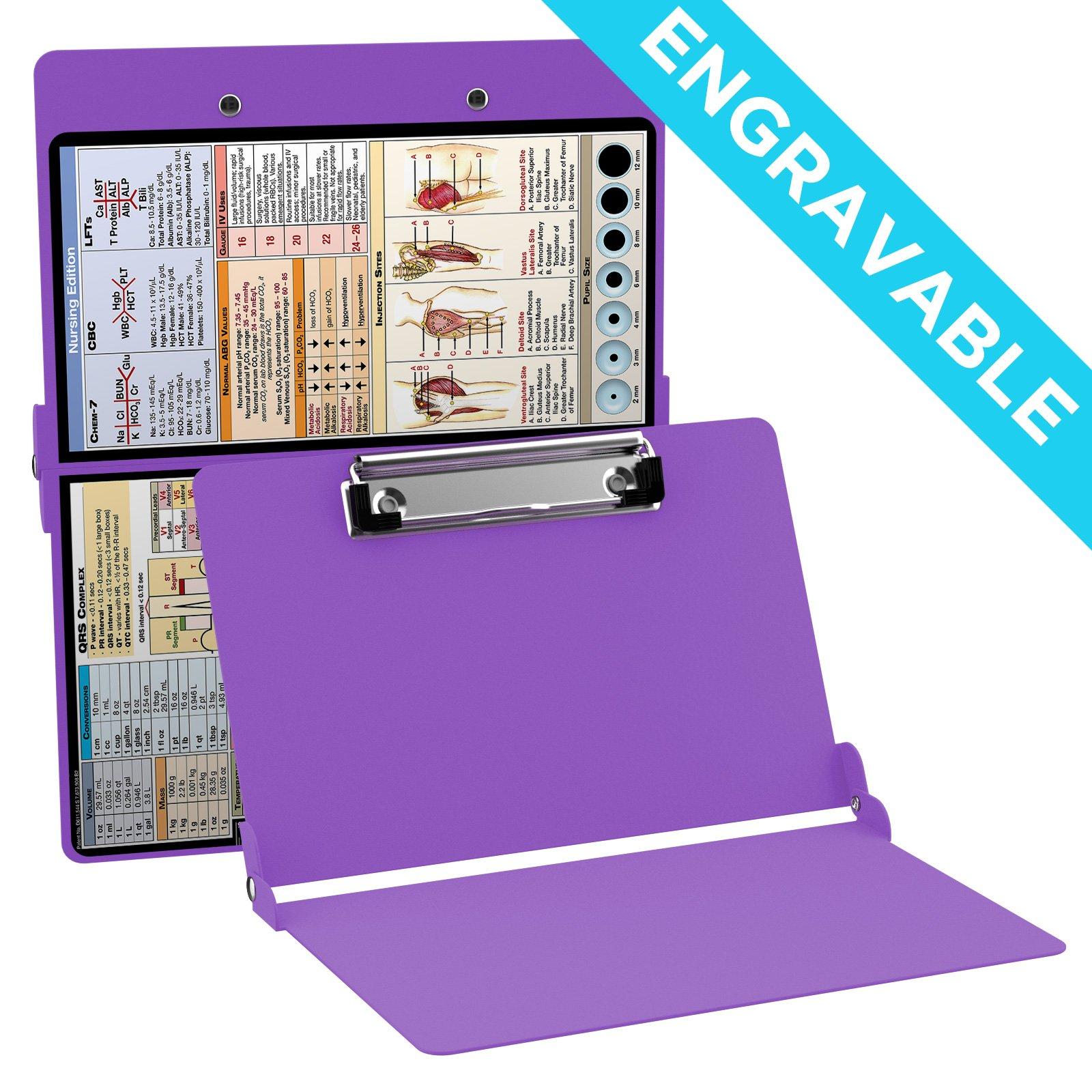 ENGRAVABLE - Whitecoat Clipboard- Lilac - Nursing Edition