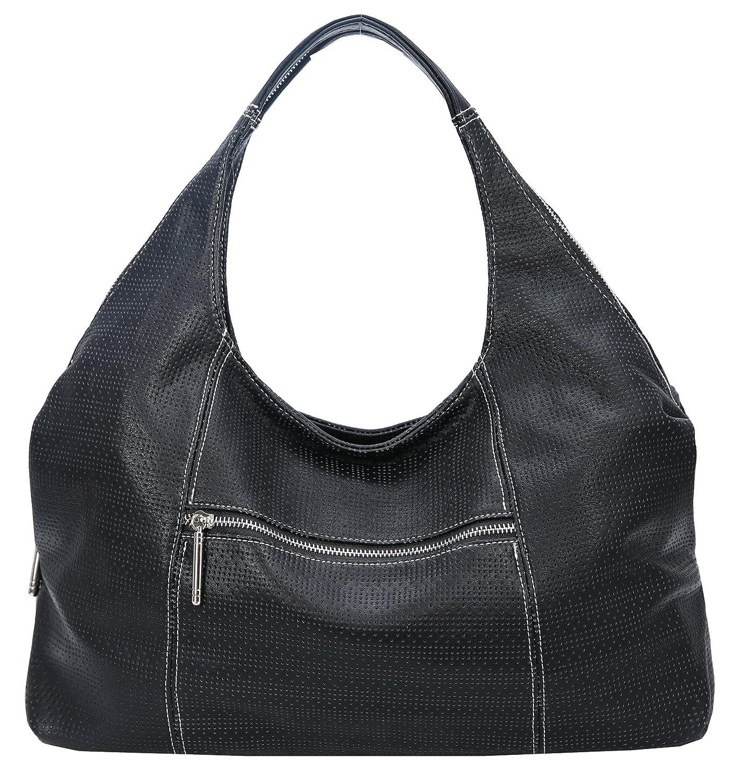 b54d1b91575 Heshe Leather Shoulder Handbags for Womens Designer Satchel Ladies Purses  Totes Work Bag Top-handle Bags Crossbody Bag