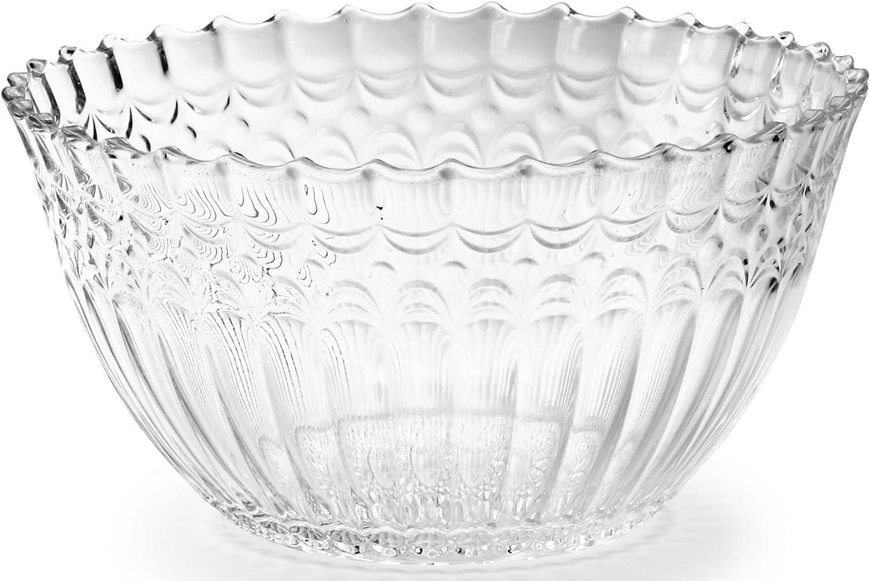Circleware diseño Cg patrimonio de clase alta de cristal frutas y plato para servir ensalada, 8,75,