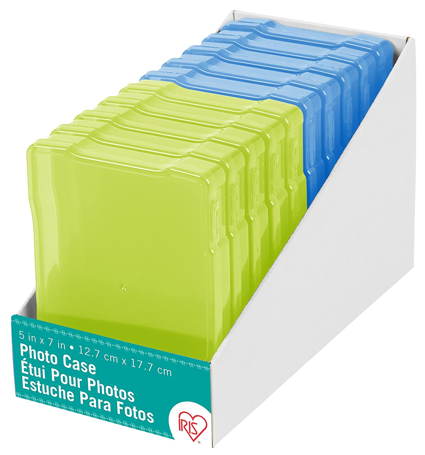Blue//Green Assorted Colors 5 x 7 Inc 10 Pack IRIS USA Photo and Craft Case