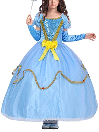 a302333394ea6 Eleasica Haute Qualité Robe de Cosplay Princesse Cendrillon ...