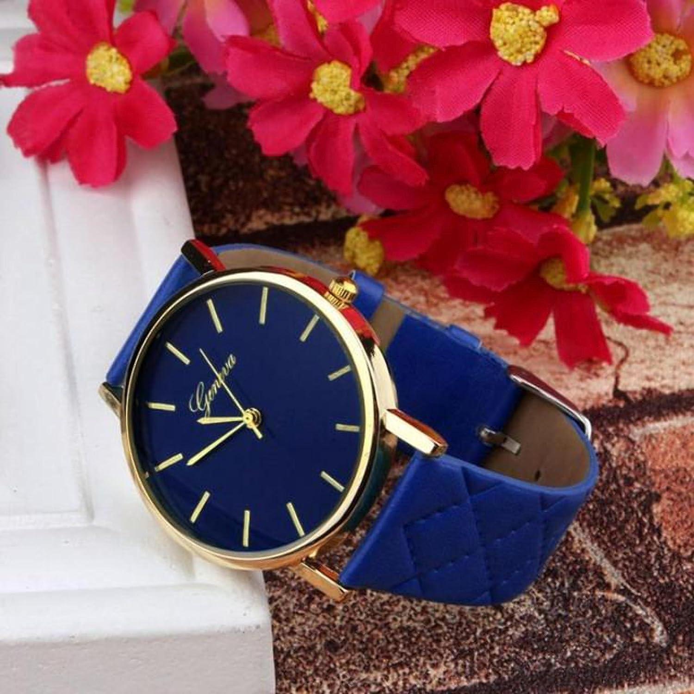 Amazon.com : 2017 Simple Desgin Fashion Womens Watches Geneva PU Leather Quartz Wrist Watch For Women Kol Saati Clock Woman : Everything Else