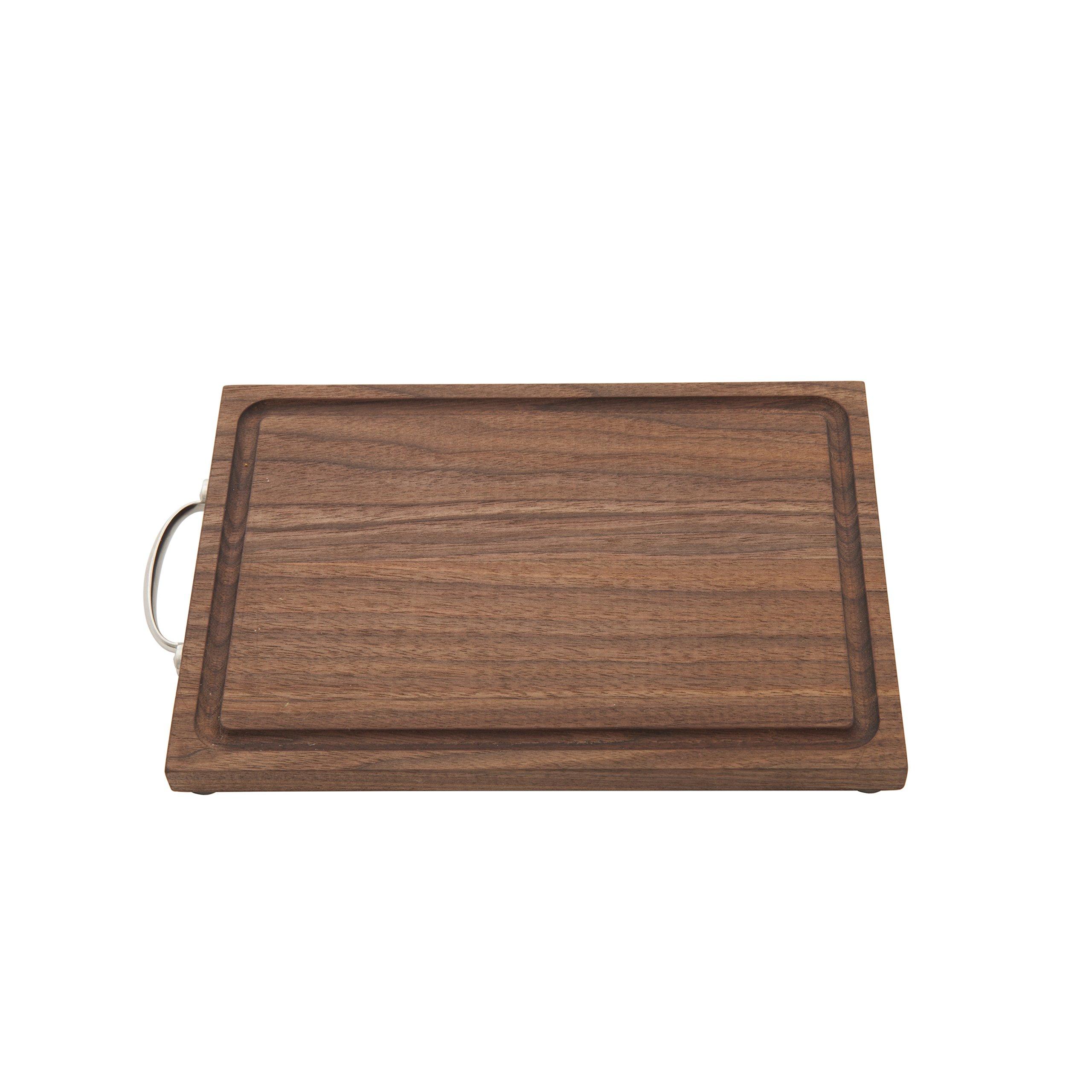 Crafthouse by Fortessa Professional Barware/Bar Tools by Charles Joly, 11'' x 7.25'' Black Walnut Wood Bar Board/Cutting Board