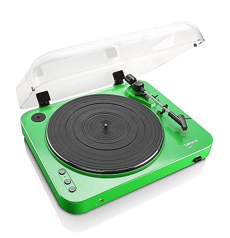 Lenco L-85 Color Verde Tocadiscos con USB: Amazon.es: Electrónica