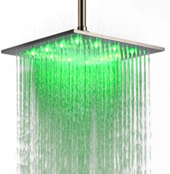 12 inch Top Sprayer Stainless Steel Square Rainfall Shower Head Ceiling Mounted
