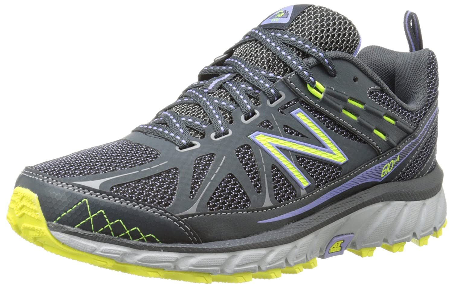 New Balance Women's WT610V4 Trail Shoe B00KJCIX5I 5.5 D US|Grey/Purple