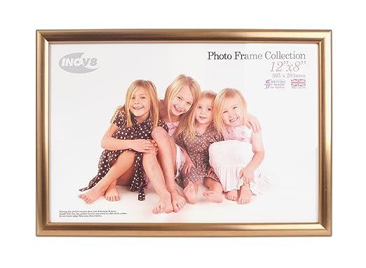 15 opinioni per Inov8- Cornice portafoto tradizionale, realizzata nel Regno Unito, 12 x 18 cm,