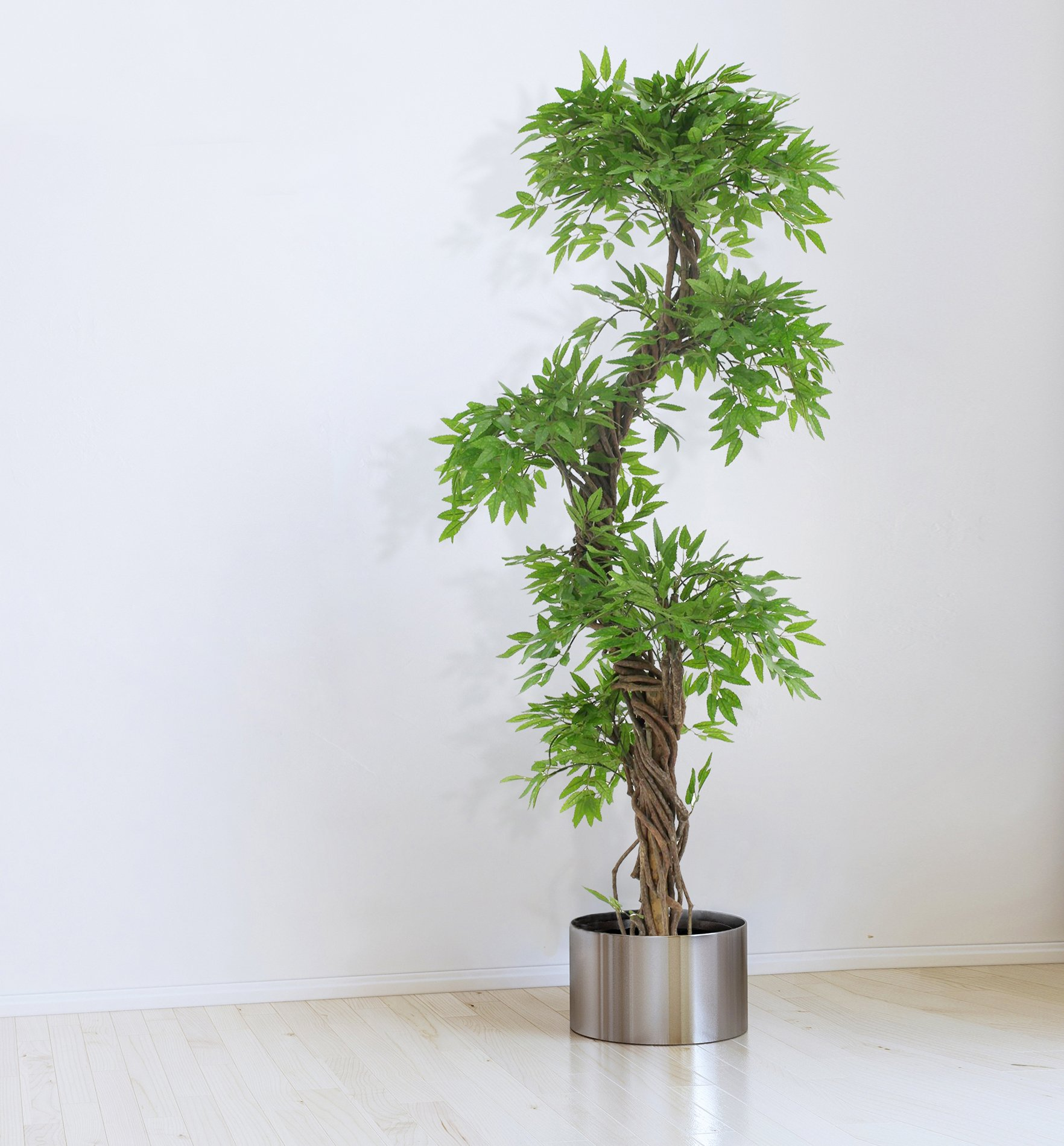 Large Contemporary Artificial Plants and Trees, Luxury Japanese Fruticosa Tree, Handmade Using Real Bark & Synthetic Leaves, Indoor Plant - 165cm Tall by Vert Lifestyle