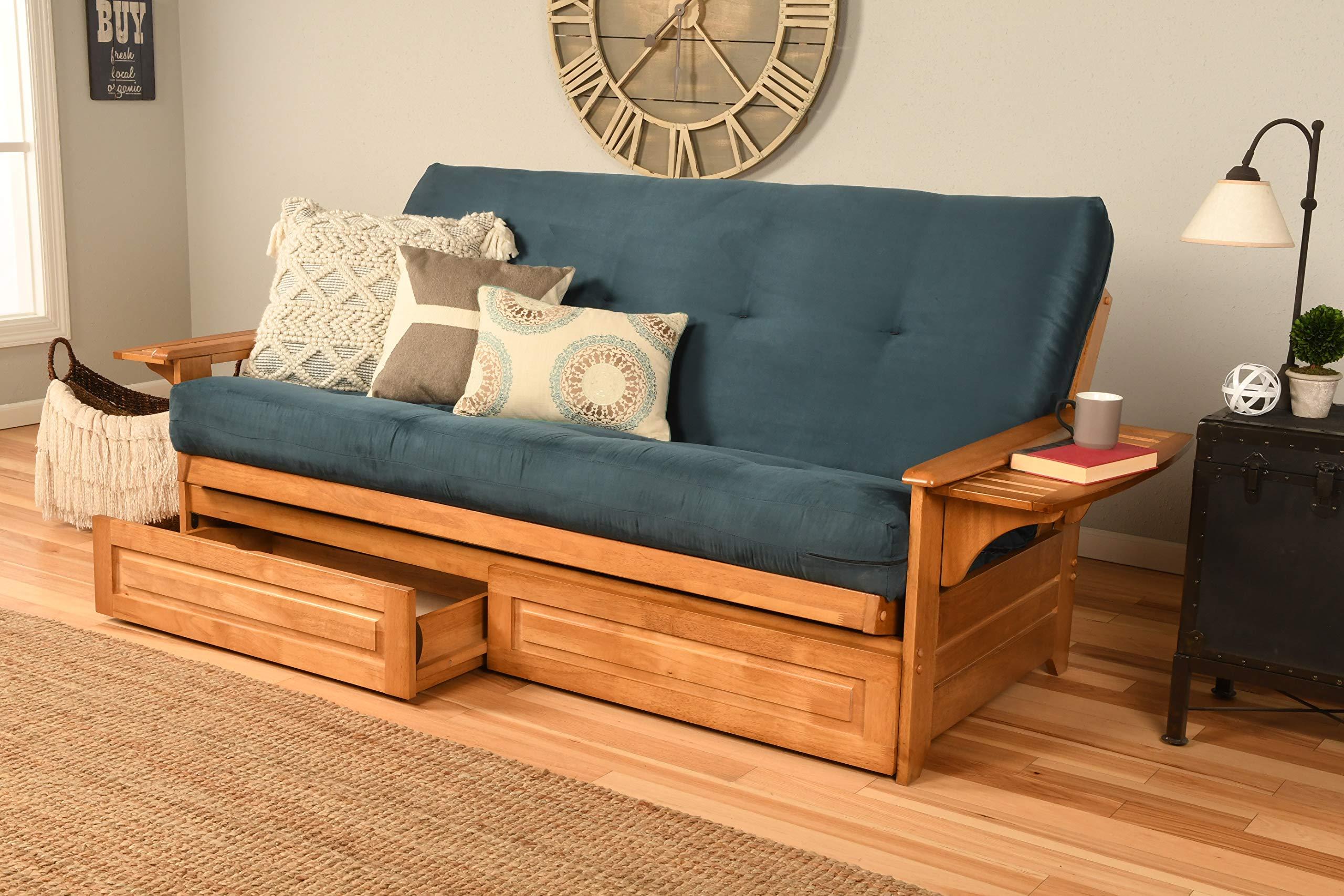 Kodiak Furniture Phoenix Futon, Suede Navy by Kodiak Furniture