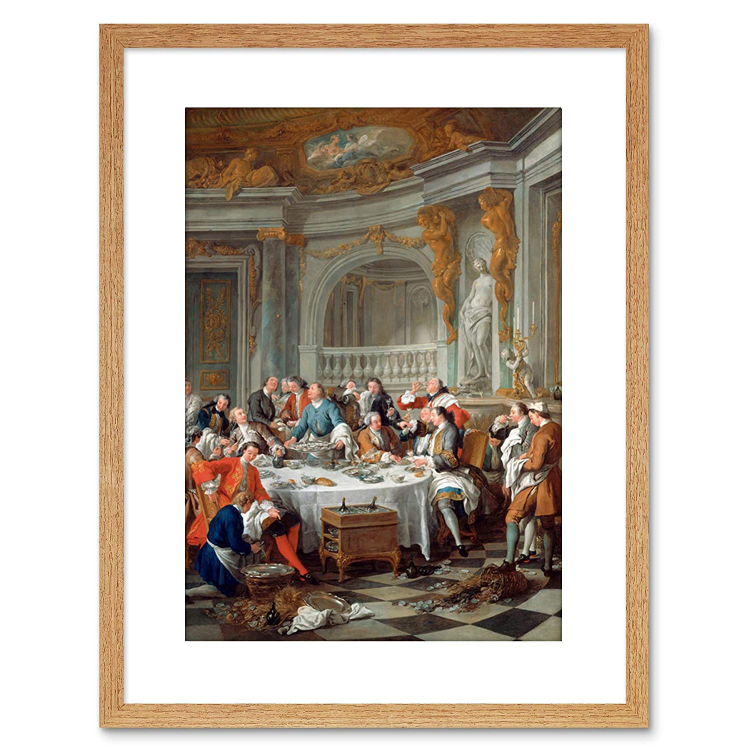 PAINTING INTERIOR STUDY DE TROY OYSTER LUNCH FRAMED PRINT F97x11532