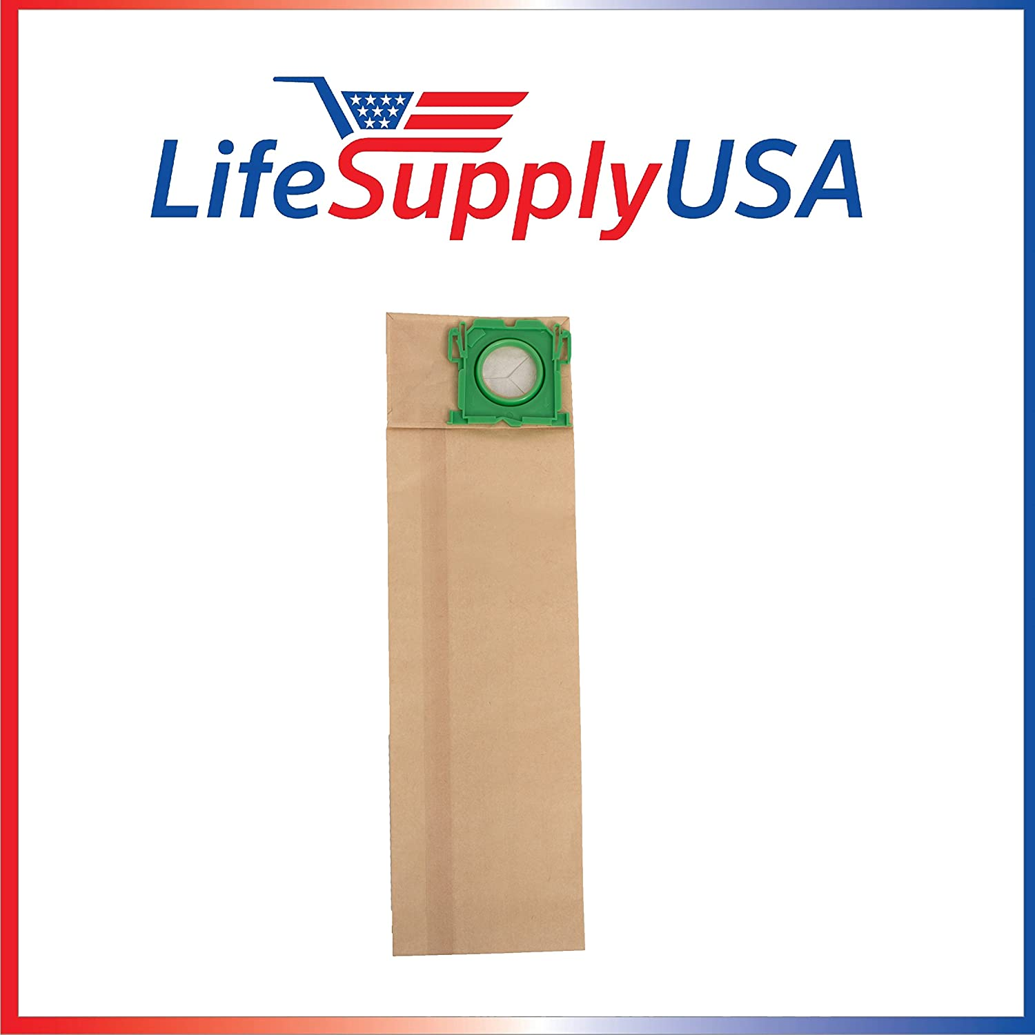 LifeSupplyUSA 10 Pack Vacuum Bags Compatible with Windsor Sensor SR12 SR15 SR18 XP12 Versamatic Plus etc