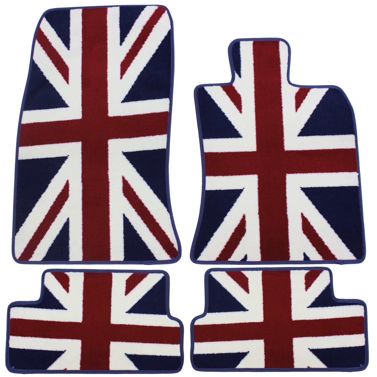 JVL Fully Tailored 4 Piece Jubilee Union Jack Tailored Car Mat Set 1182-1