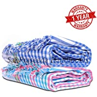 Mesh Masters Handloom 100% Pure Cotton Towels 1 Year Guarantee XXXL 36inches/72inches(3 feet/6feet) 90cms/180cms (Pack:2) 800 GSM Multi Color