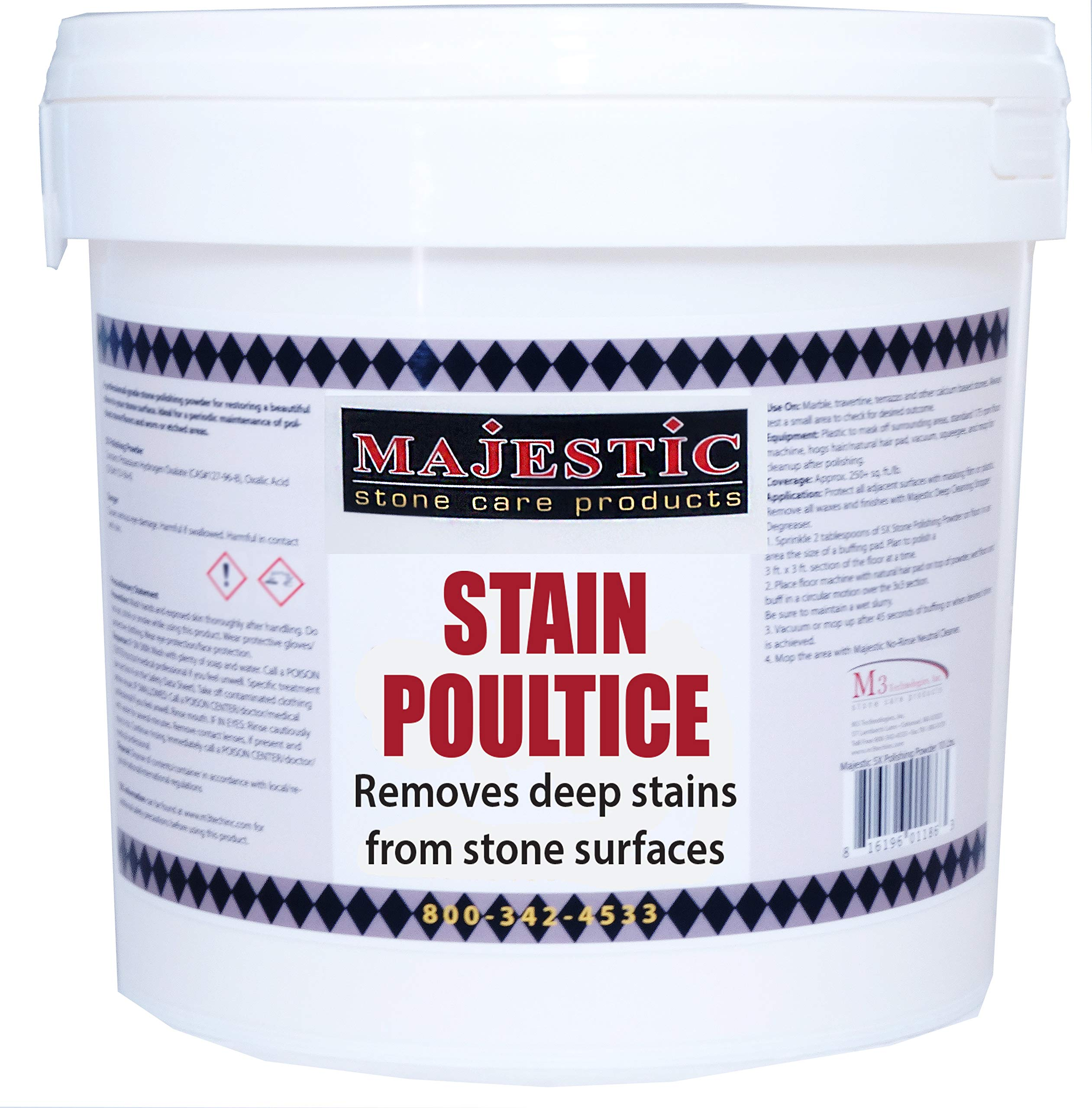 Poultice Powder-Case of 4 (1.5 lbs) by Majestic Stone Care Products