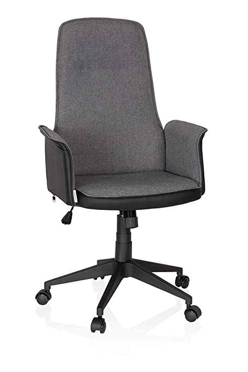 Bürostuhl Schreibtischstuhl Drehstuhl Stoff Braun 0704M//3675 SixBros