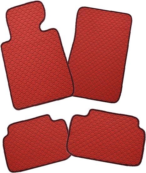 Gummimatten Auto Fußmatten Passgenau Rot Auto