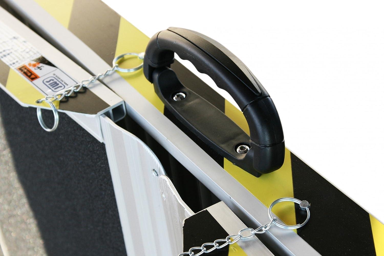 Rollstuhlrampe Alurampe Rollstuhl Klappbar Klapp Rampe 3-Fach-Faltbar 240 cm Alu