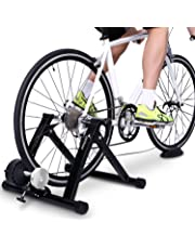 Sportneer Bike Trainer Stand Steel Bicycle Exercise Magnetic Stand with Noise Reduction Wheel for Road Bike