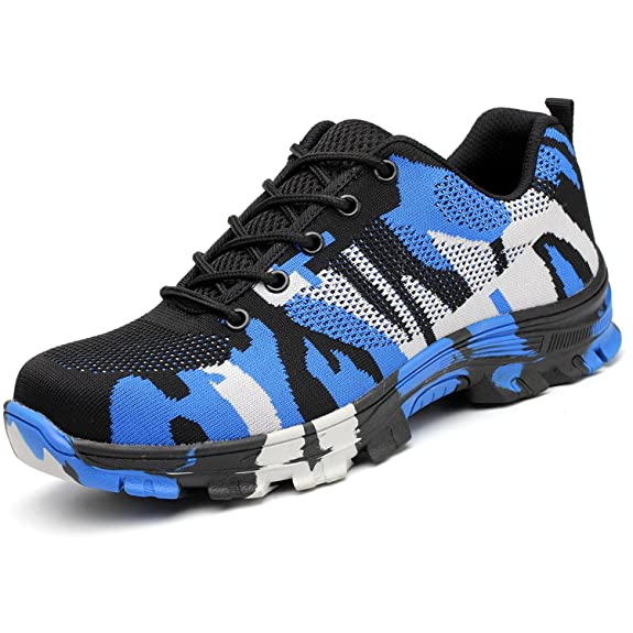 COOU Chaussure de Sécurité Respirant s3 Chaussures de Travail avec Embout de Protection en Acier Et Semelle de Protection Unisexes