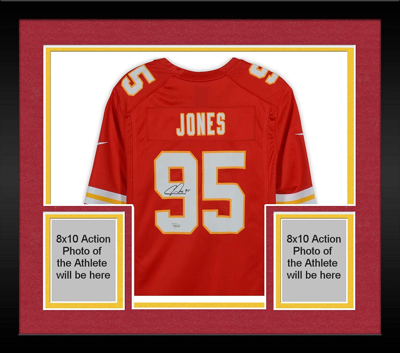 online retailer 3feea b283b Framed Chris Jones Kansas City Chiefs Autographed Nike Red ...
