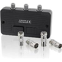 Schakelaar verdeler - SAT-kabel TV DVB-T HD Digital HDTV 4K UltraHD 3D - voor BK- en SAT-systemen F-bus - 2X F-bus…