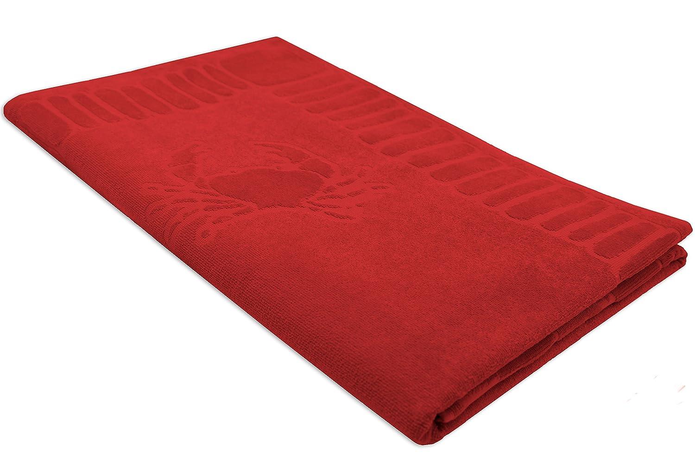 ZOLLNER Toalla de Playa Grande, 100x200 cm, algodón, roja: Amazon.es: Hogar