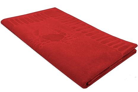 ZOLLNER Toalla de Playa Grande, 100x200 cm, algodón, roja