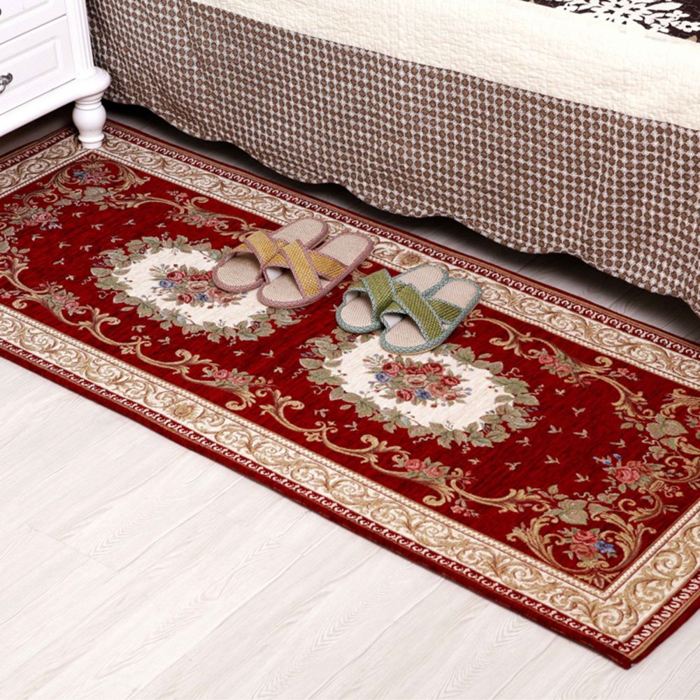 Area Rugs carpet European carpet Kitchen bedroom bed blanket tea table mats balcony carpet Bay window mat-A 75x180cm(30x71inch)