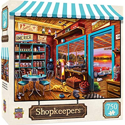 MasterPieces Shopkeepers Jigsaw Puzzle, Henry's General Store, Featuring Art by Geno Peoples, 750 Pieces: Toys & Games