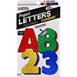 """ArtSkills 2.5"""" Poster Letters and Numbers, A-Z and 0-9, Assorted, Holographic Colors, 228-Count (PA-1444)"""