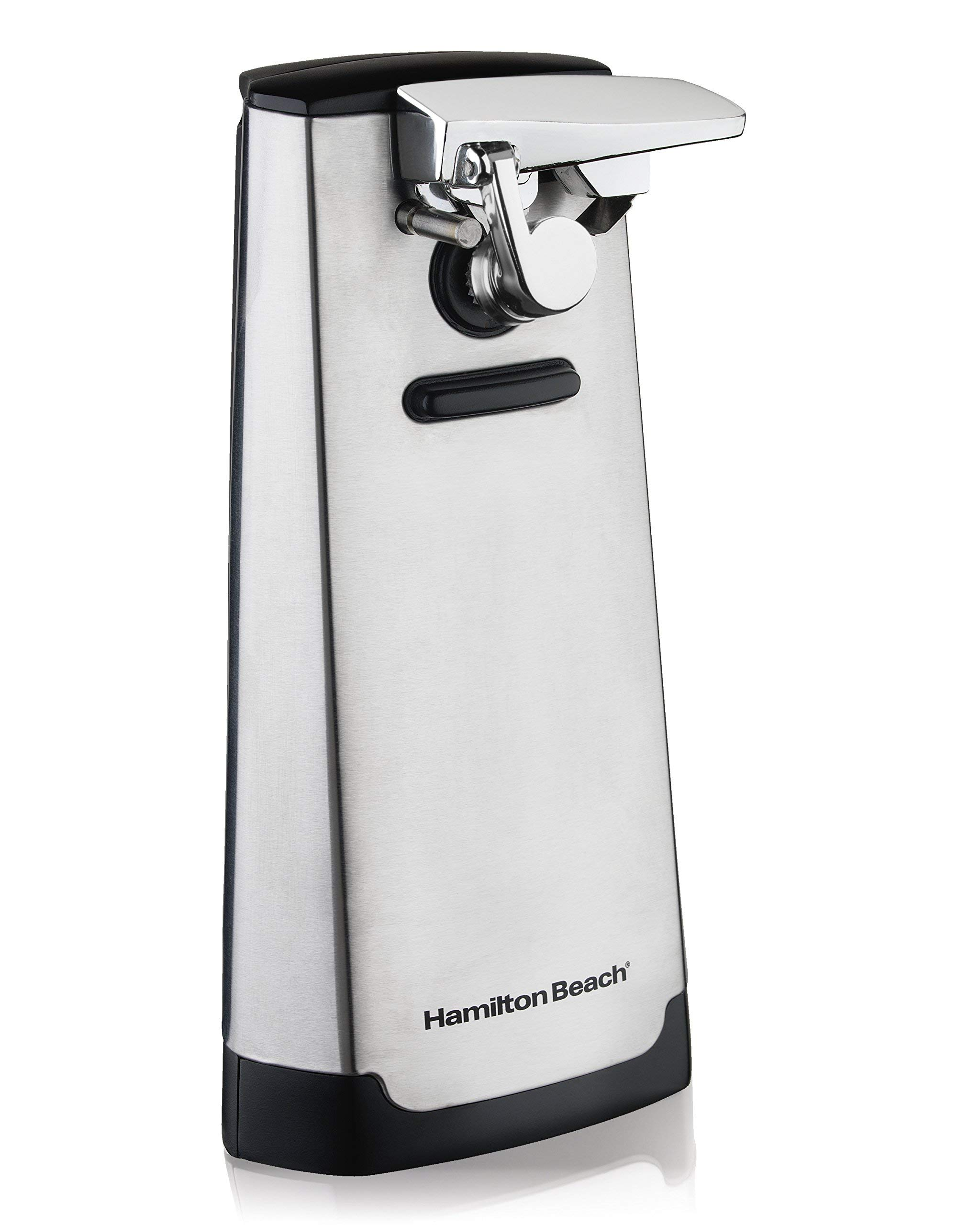 Premium Pack Electric Can Opener (76700), Detachable Lever, Brushed Stainless Steel
