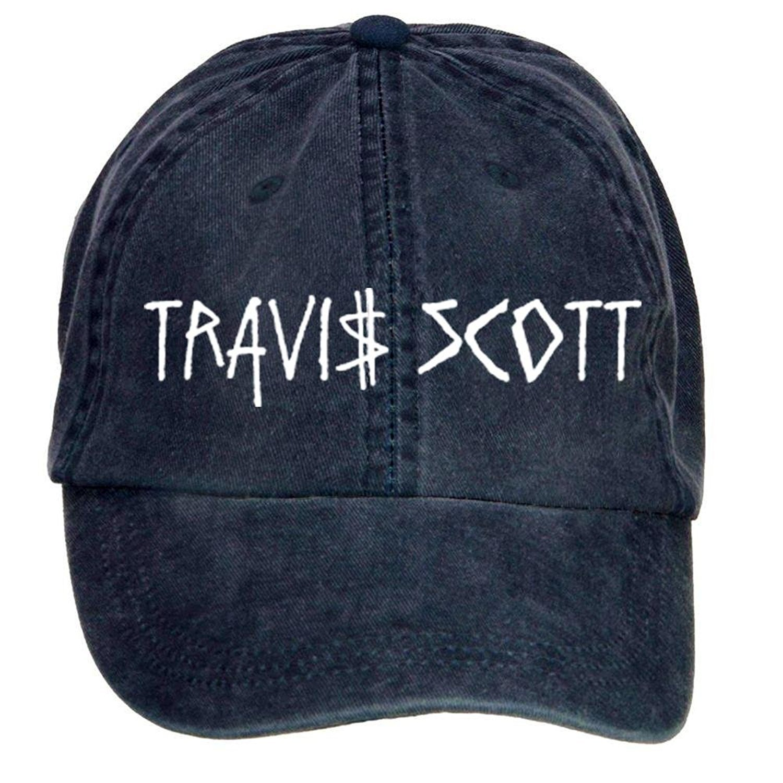 Shkdg Cotton Travis Scott Classic Mens Adjustable Washable Baseball Cap