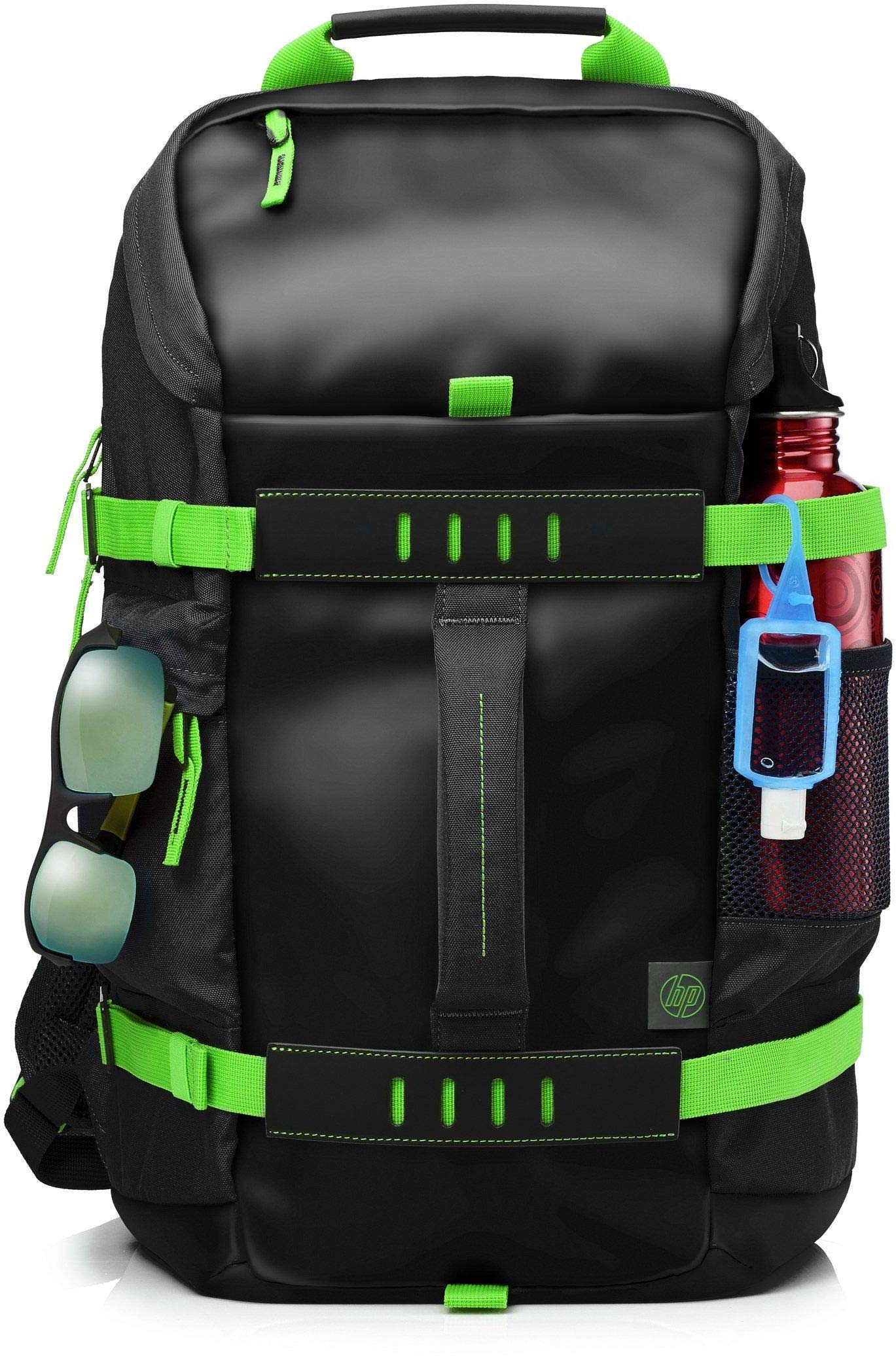 HP Odyssey T5P98AA Backpack for 15.6-inch Laptops (Black/Electric Green) product image