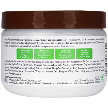 Palmer S Coconut Oil Formula Moisture Gro Hairdress Jar 5 25 Ounce