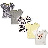 Amazon Essentials Short-Sleeve T-Shirts Niñas, Pack de 5