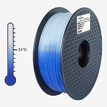 Filamento PLA ECHEN de 1,75 mm, cambio de color con temperatura ...