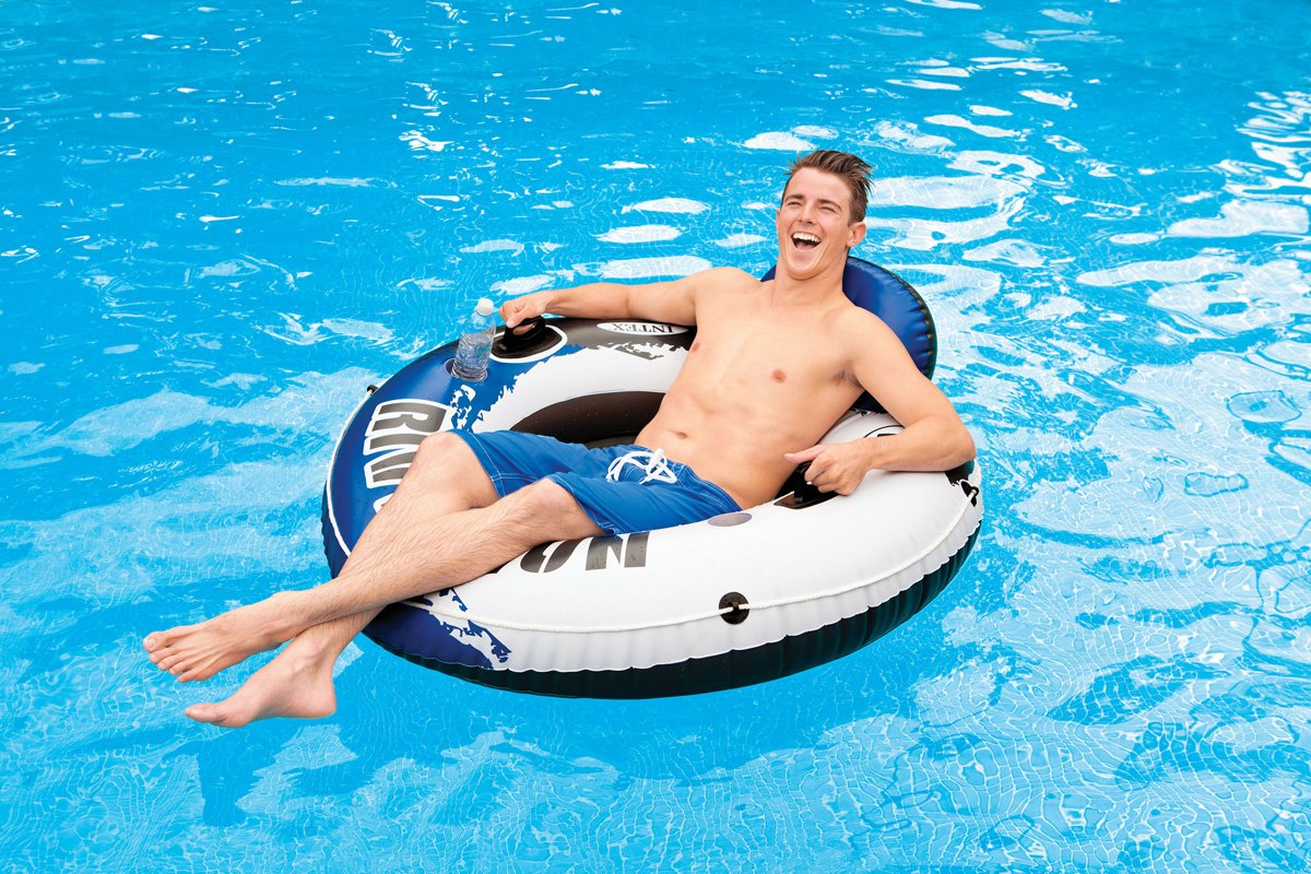 Intex River Run 1 Person Floating Tube (6 Pack) & River Run Lounge (4 Pack) by Intex (Image #5)